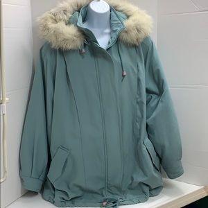 Elan Fur-Hooded Thermal Puffy Coat size 2X